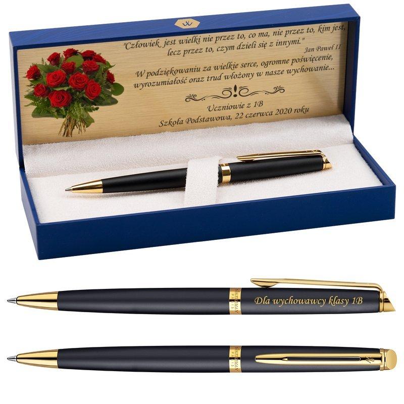 Długopis Czarny Mat GT Waterman Hemisphere z Grawerem
