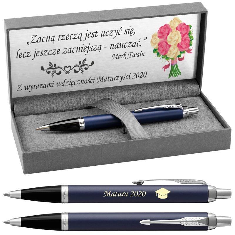 Długopis Parker IM Niebieski Matowy CT z Grawerem