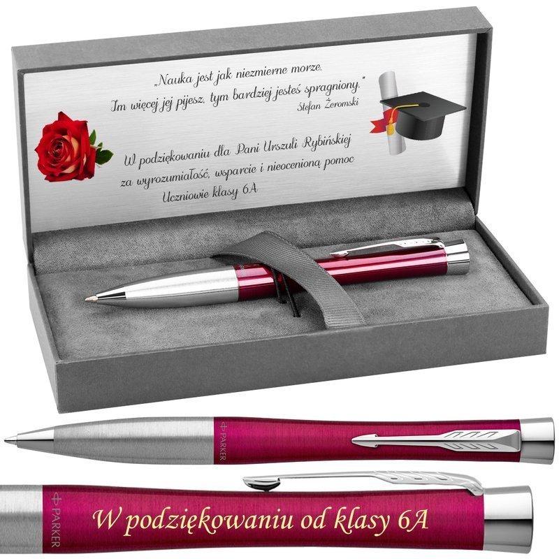 Długopis Parker Urban Twist Różowy Grawer+Dedykacja