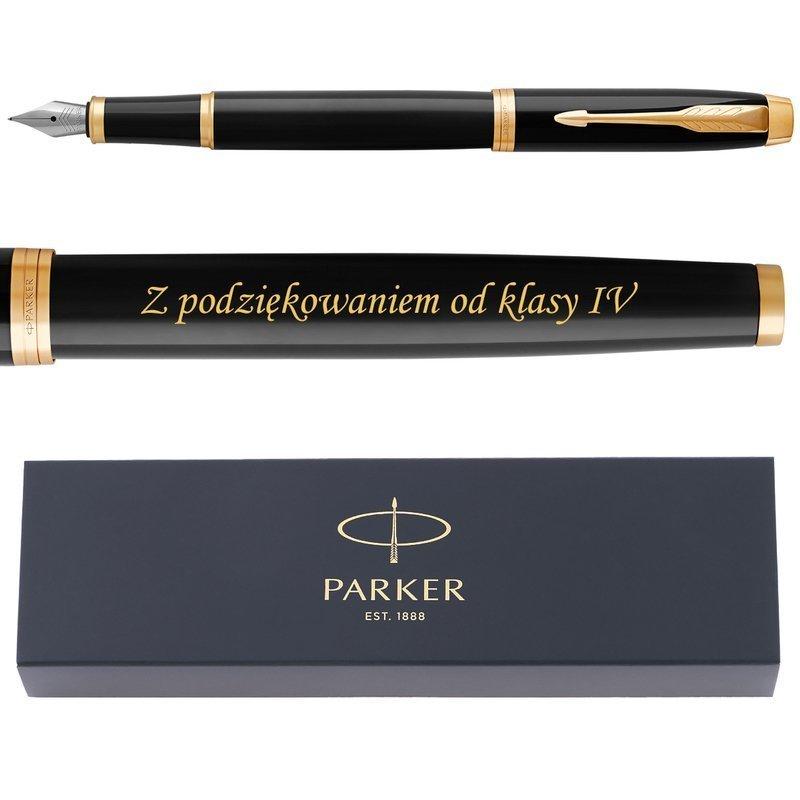 Parker IM Pióro Wieczne Black GT Grawer