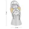 Aniołek  z sercem 7 cm Srebro Grawer Dedykacja Pamiątka Chrztu na Chrzest 2