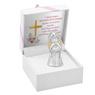 Aniołek  z sercem 7 cm Srebro Grawer Dedykacja Pamiątka Chrztu na Chrzest 3