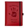 Notes reklamowy pamiętnik A5 Nebraska Czerwony z gumką z Grawerem 1