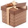 Pudełko na prezent brązowe XS  1