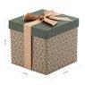 Pudełko na prezent brązowe z zielenią S 2