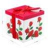 Pudełko na prezent czerwone róże M+ 2