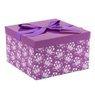 Pudełko na prezent fioletowe rozmiar L 22,5 x14 cm 1
