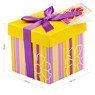 Pudełko na prezent fioletowo-żółte paski XS 2