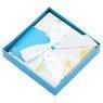 Pudełko na prezent niebieskie z kwiatkami XS  2