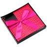 Pudełko na prezent różowy wzór M 3
