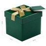 Pudełko na prezent zielone ze złotą tasiemką XS 3