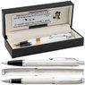 Zestaw Parker IM Pióro + Długopis Białe CT Grawer  1