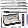 Zestaw Pióro Długopis Ołówek Parker Jotter stalowe CT Etui z Grawerem 3