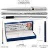 Zestaw Pióro + Długopis Waterman Hemisphere stalowy CT z Grawerem  3