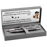 Zestaw Pióro i Długopis Parker IM Gun Metal CT z Grawerem 2