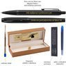 Zestaw Pióro wieczne i Długopis Parker IM Achromatic Czarny z Grawerem 7