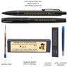 Zestaw Pióro wieczne i Długopis Parker IM Achromatic Czarny z Grawerem 3