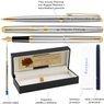 Zestaw Pióro wieczne i Długopis Waterman Hemisphere stalowy GT Grawer 7